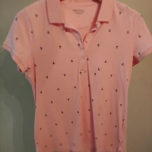Pink  Nautica Top With Blue Achors